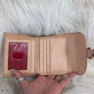 Dooney & Bourke Bags - Dooney & Bourke pink polka dot trifold wallet.